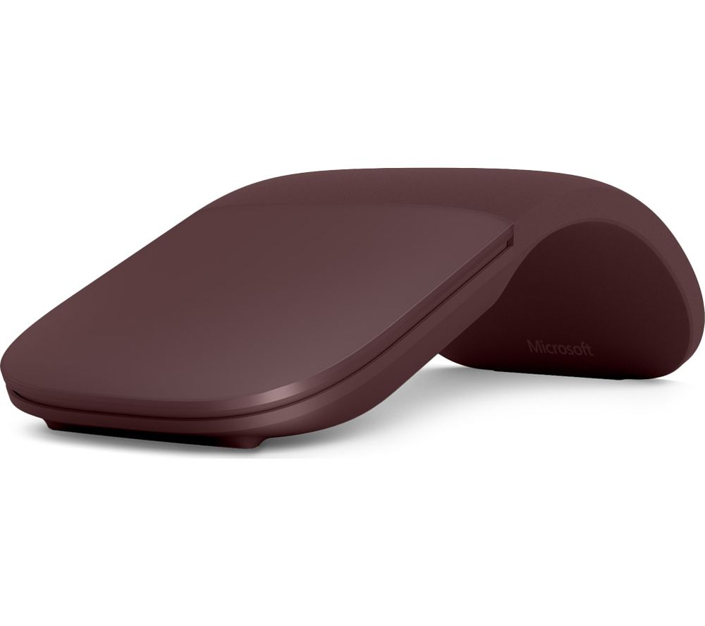 MICROSOFT Surface Arc BlueTrack Touch Mouse - Burgundy