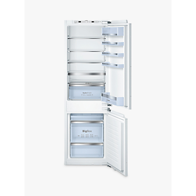 Bosch Classixx KIS86AF30G Integrated 60/40 Fridge Freezer, Fixed Door Hinge, A++ Energy Rating, 56cm Wide, White